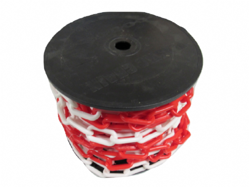 Red White Plastic Chain Links 10MM x 20M (Garden Decorative Safety Barrier)